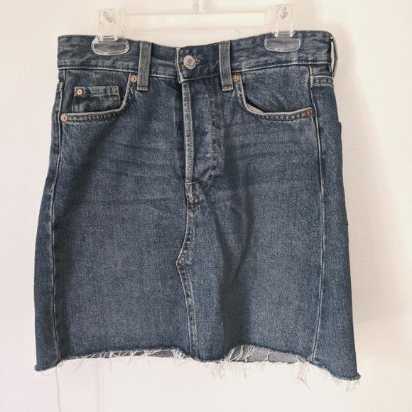 BRAND NEW &Denim mini denim skirt high waisted